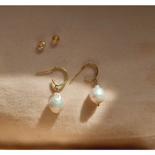Karma - Baroque Pearl Drop Earrings