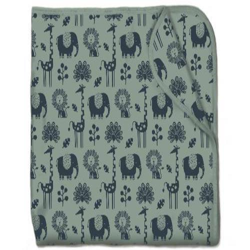 Snuggling Artist Blanket in Piha Print, Green Tea