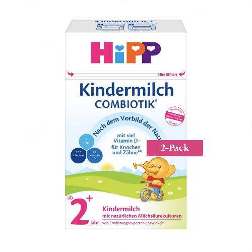 2-Pack HiPP Stage 2+ Organic Combiotik Toddler Milk (600g) $39.99 EA