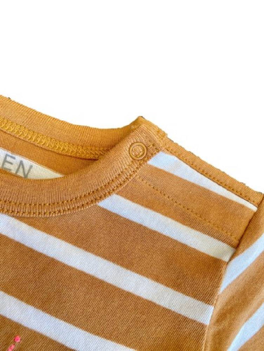 The Olen Stripe Pajama Set with Blanket, Fawn