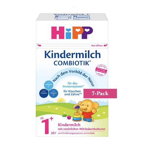 7-Pack HiPP Stage 1+ Organic Combiotik Toddler Milk (600g) $28.58 EA