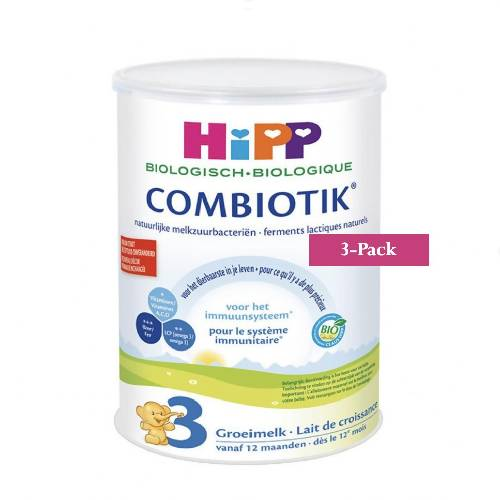 3-Pack HiPP stage 3 (12 months onwards) Organic Combiotik Infant Formula Milk (900g/32oz)-Dutch Version. $46.67 EA