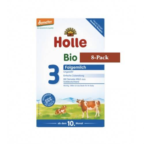 8-Pack Holle Stage 3 Organic (Bio) Baby Milk Formula (600g) $29.99 EA