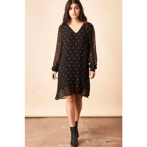 Baby Cacti Shift Dress in Black + Cream