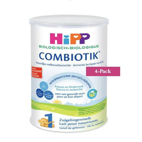 4-Pack HiPP Stage 1 (0-6 months) Organic Combiotik Infant Formula Milk (900g/32oz)-Dutch Version. $44.99 EA