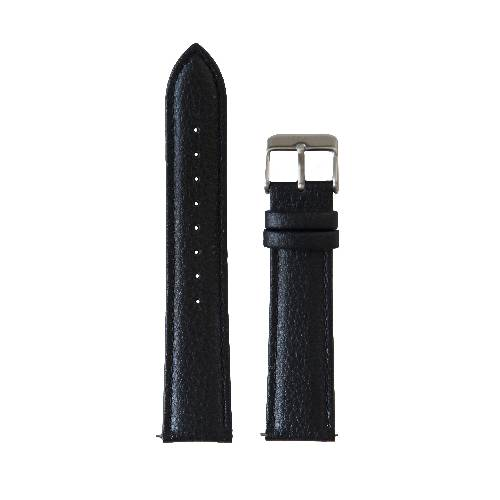 20mm Black Stitched Vegan Leather Band