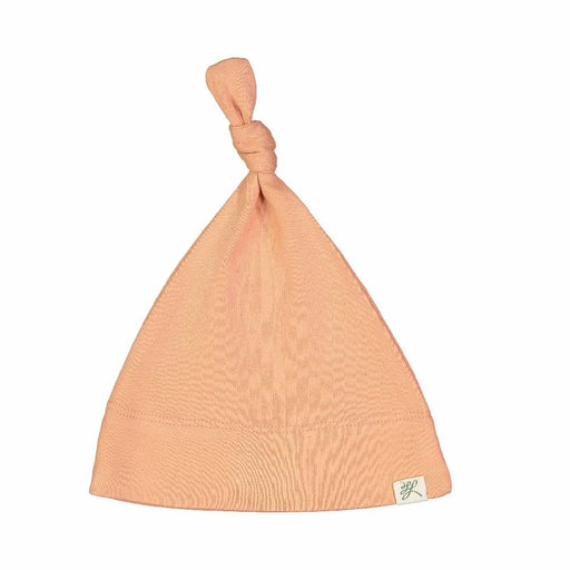 Top Knot Hat (Dusty Coral Print)
