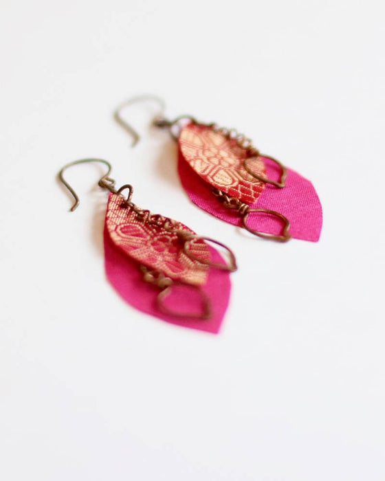 Sari Leaf Earrings