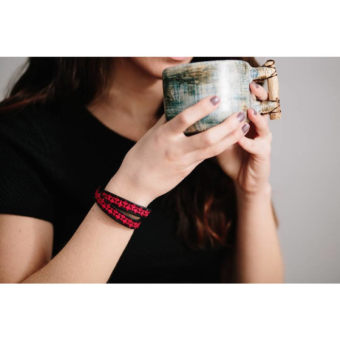 The Red Choker - Wrap Bracelet