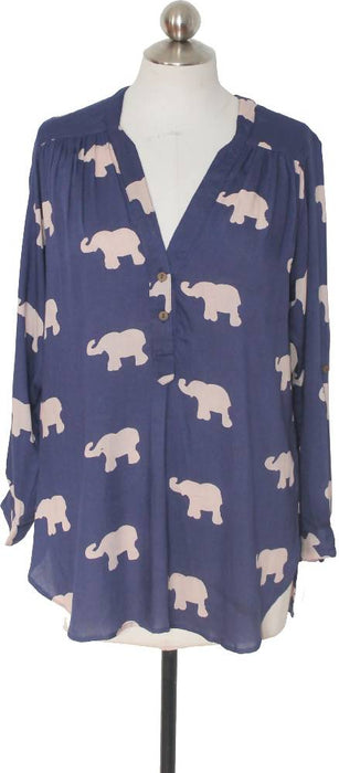 Navy Marching Elephants Tunic