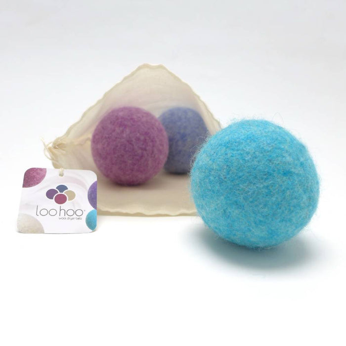 LooHoo Wool Dryer Balls Starter 3-Pack