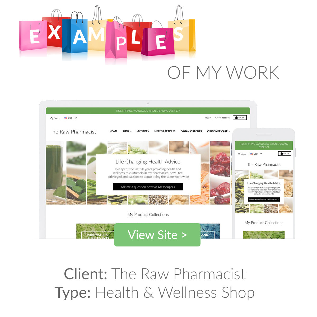 Examples of my eCommerce Website Designs 1 | The Shopify Expert