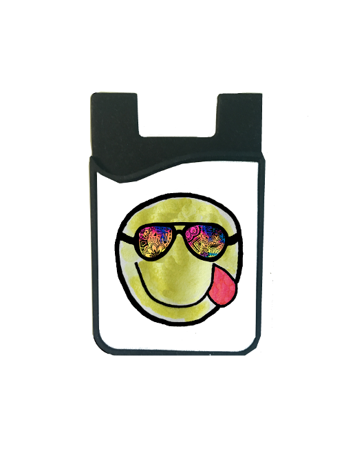 Galaxy Sun Emoji Card Caddy