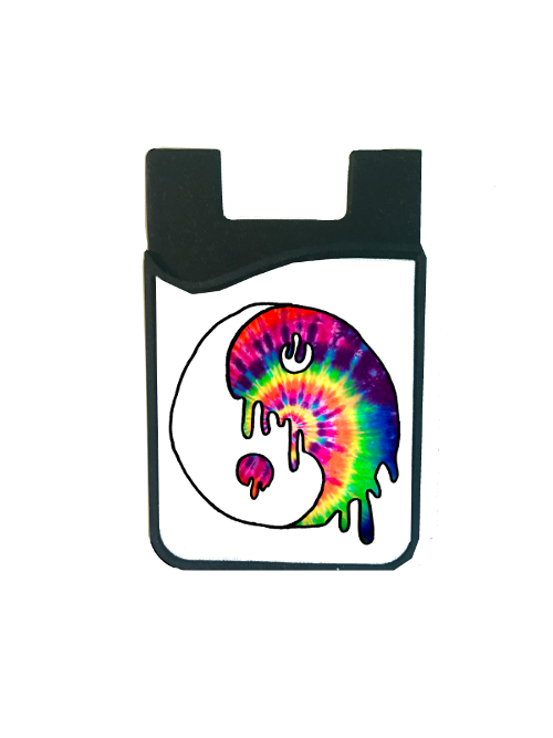 Dripping Tie Dye Yin Yang Card Caddy