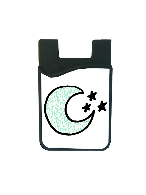 Green Triangle Moon Card Caddy