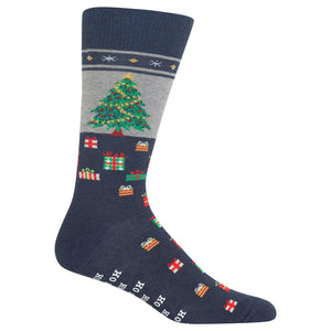 Men's Christmas Tree Non Skid Sock - XEJRA