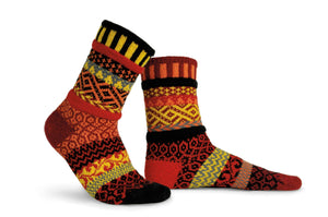Fire Adult Crew Socks - XEJRA