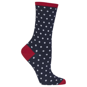 Women's Small Polka Dot Crew Socks - XEJRA