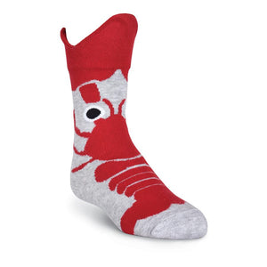 Kid's Lobster Claws Wide Mouth Crew Socks - XEJRA