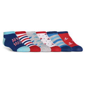 Kid's Nautical No Show Socks - XEJRA