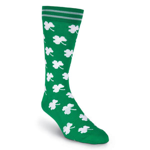 Men's White Shamrocks Socks - XEJRA
