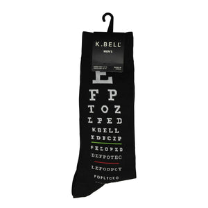 Men's Eye Chart Crew Socks - XEJRA
