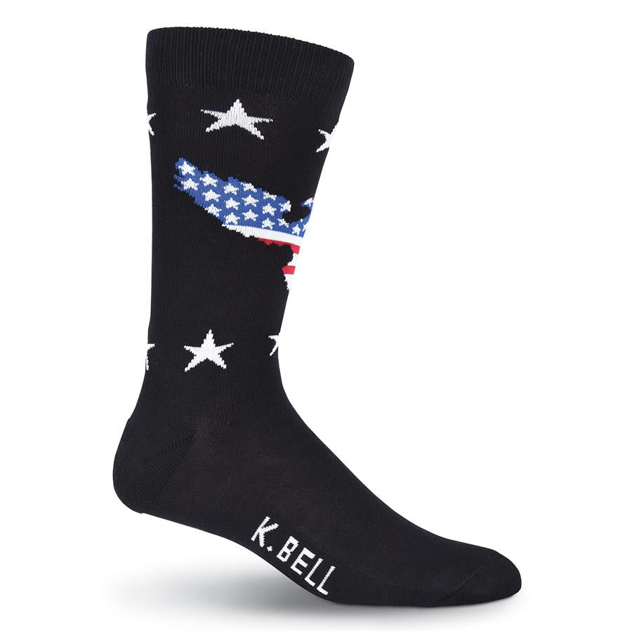 Men's Patriotic Eagle Crew Socks - XEJRA