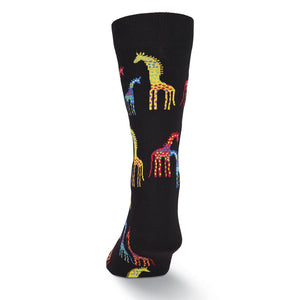 Men's Laurel Burch Giraffes Crew Socks - XEJRA