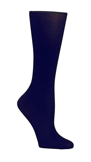 Navy Blue Solid 8-15 mm/Hg Graduated Compression Socks - XEJRA