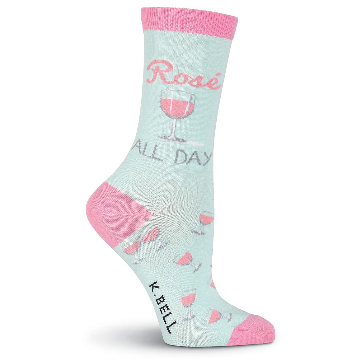 Rosé All Day Crew Socks - XEJRA