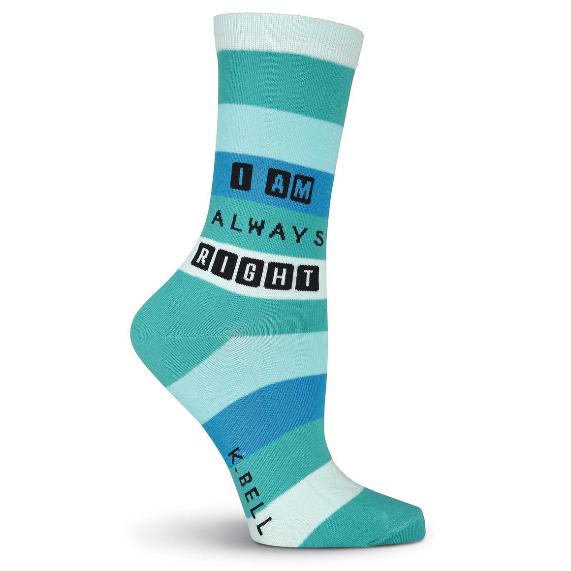 I Am Always Right Crew Socks - XEJRA