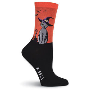 Colorful Crew Socks - Witchy Kitty Crew