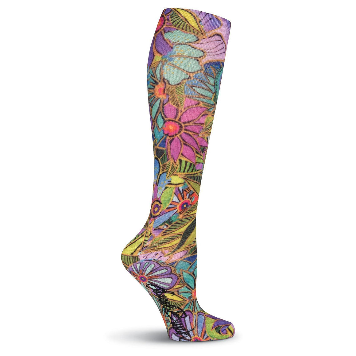 Laurel Burch All Over Floral 360 Print Knee High Socks - XEJRA