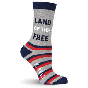 Land Of The Free Crew Socks - Land Of The Free Crew Socks - American Made