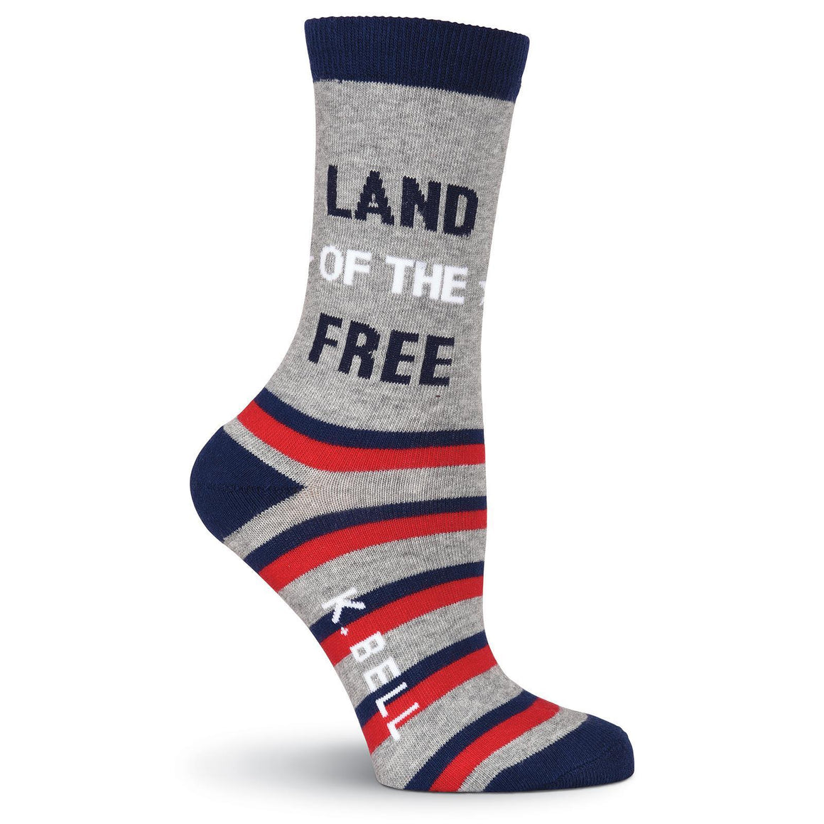 Land of the Free Crew Socks - American Made - XEJRA