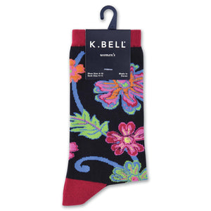 Abstract Floral Crew Socks - XEJRA