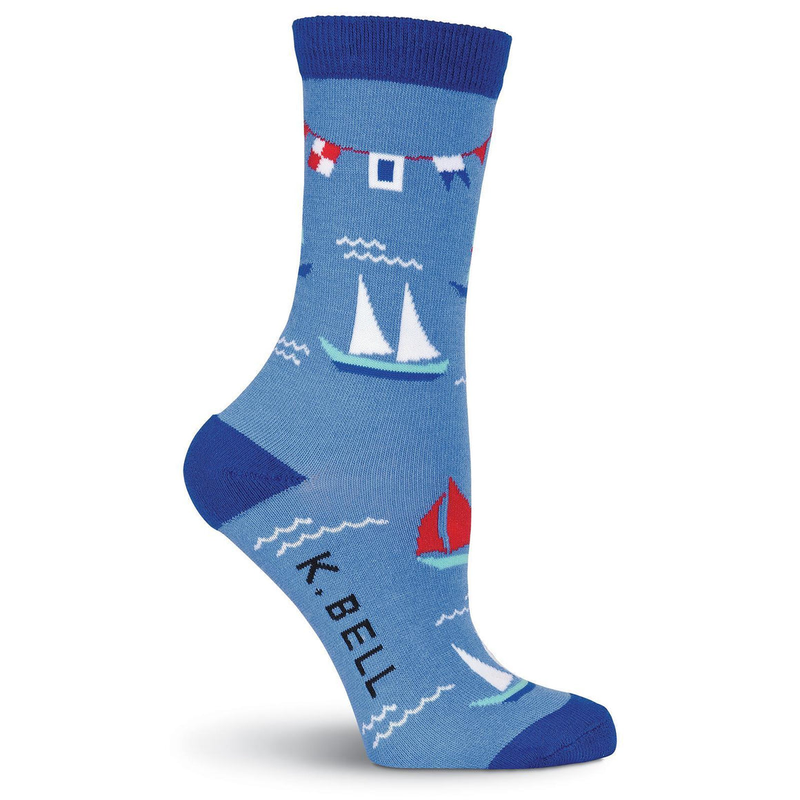 Nautical Flags Crew Socks - American Made - XEJRA