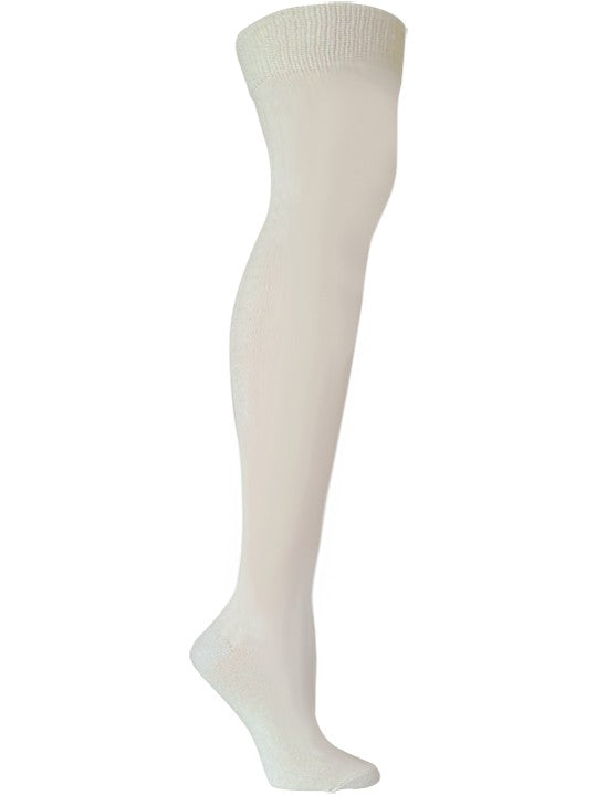 Solid Milk Over the Knee Sock - XEJRA