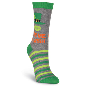 Kiss Me, I'm Irish Crew Socks - XEJRA