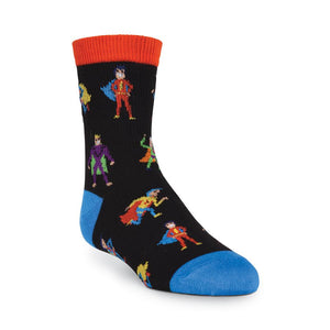 Boy's Super Heros Crew Socks - XEJRA
