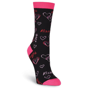Hugs & Kisses Crew Socks - XEJRA