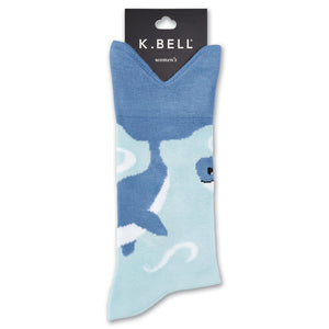Wide Mouth Whale Tail Crew Socks - XEJRA