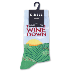 Wine Down Crew Socks - XEJRA