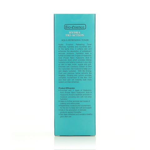 Bio-essence Hydra Tri-Action Aqua Refreshing Toner 100ml