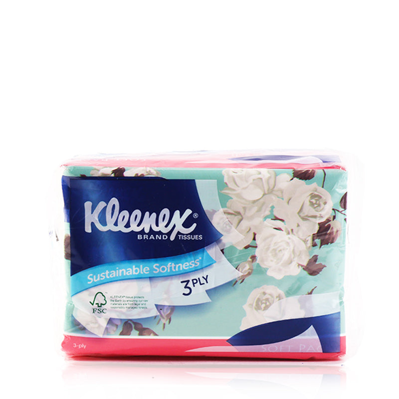 Kleenex Soft Pack Facial Tissue 4×50pcs