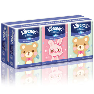 Kleenex Hankey Pack Facial Tissue Bear 6×9pcs