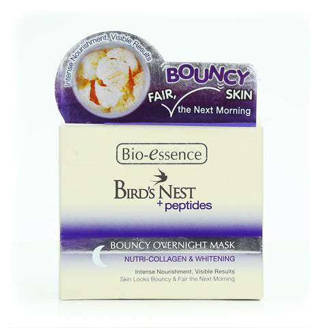Bio-essence Bird's Nest + Peptides Nutri-Collagen & Whitening Bouncy Overnight Mask 50g