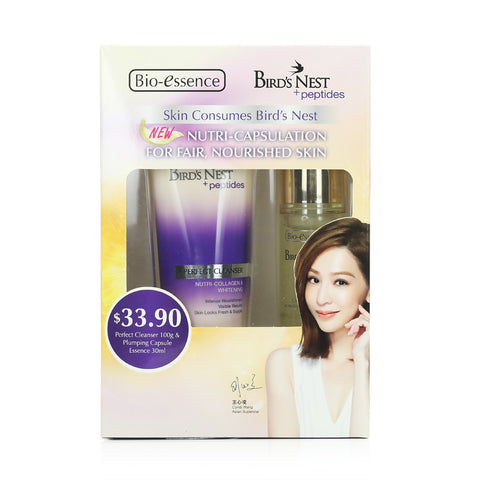 Bio-essence Skin Consumes Bird's Nest Twin Pack (Perfect Cleanser 100g + Plumping Capsule Essence 30ml)