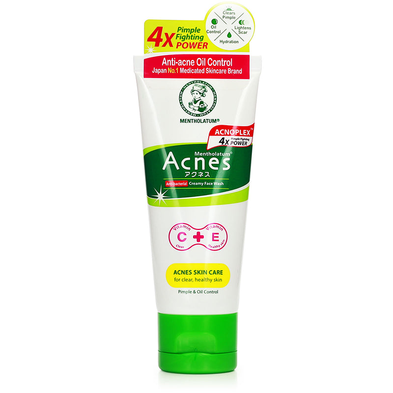 Mentholatum Acnes Anti-Bacterial Creamy Face Wash 50g / 100g