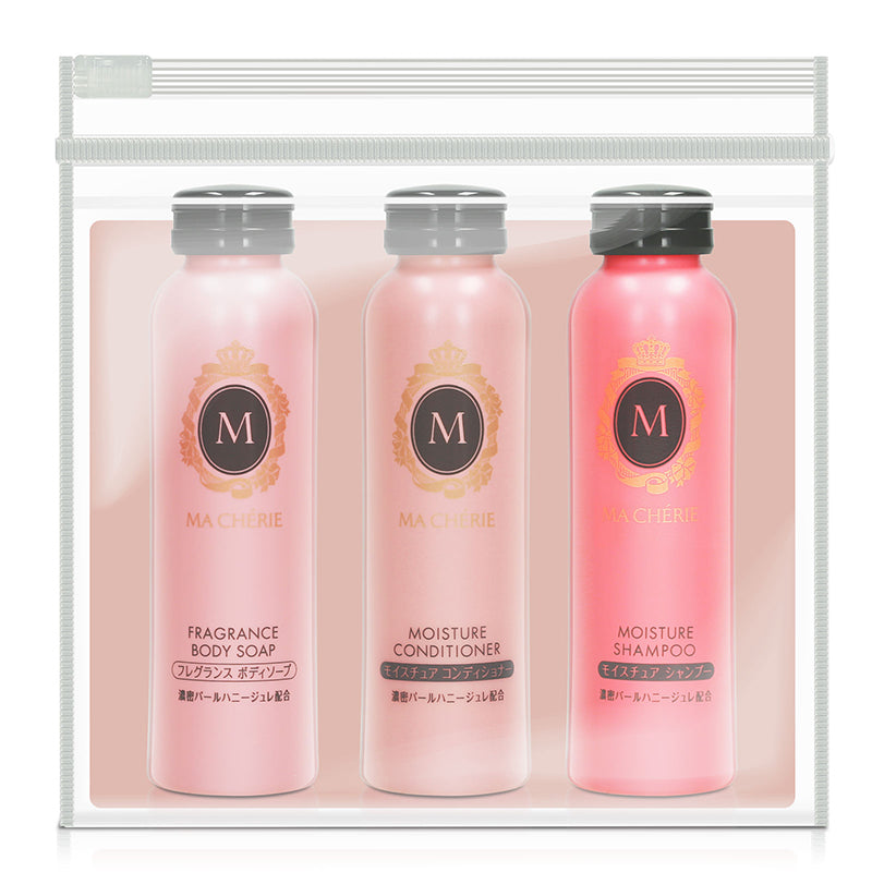 Ma Cherie Travel Set EX (Moisture Shampoo, Conditioner, Body Soap) 3 x 50ml
